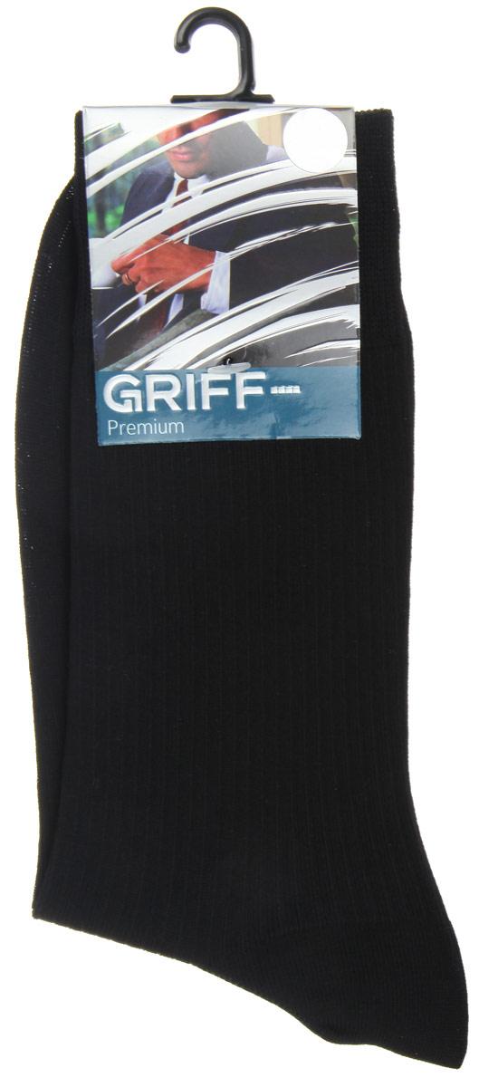 Носки мужские Premium. E4E4Мужские носки Griff Premium изготовлены из высококачественного сырья с добавлением полиамидных волокон, которые обеспечивают великолепную посадку. Носки отличаются элегантным внешним видом. Удобная широкая резинка идеально облегает ногу и не пережимает сосуды, усиленные пятка и мысок повышают износоустойчивость носка, а удлиненный паголенок придает более эстетичный вид.