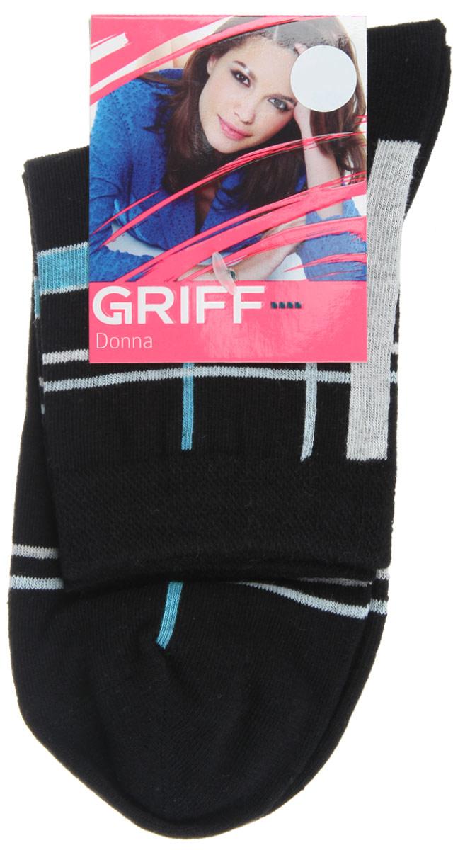 НоскиD58Женские носки Griff Линии изготовлены из высококачественного сырья. Носки очень мягкие на ощупь, а широкая резинка плотно облегает ногу, не сдавливая ее, благодаря чему вам будет комфортно и удобно. Усиленная пятка и мысок обеспечивают надежность и долговечность. Носки оформлены оригинальным принтом.