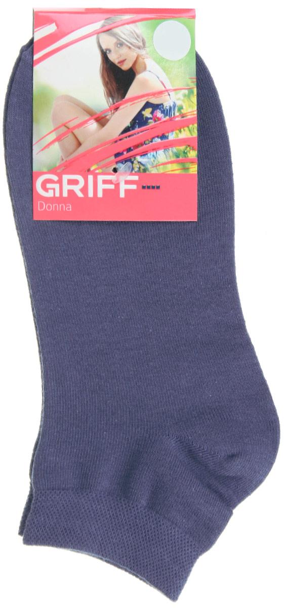 D4U3Женские укороченные носки Griff изготовлены из высококачественного сырья. Однотонные носки очень мягкие на ощупь, а широкая резинка плотно облегает ногу, не сдавливая ее, благодаря чему вам будет комфортно и удобно. Усиленная пятка и мысок обеспечивают надежность и долговечность.