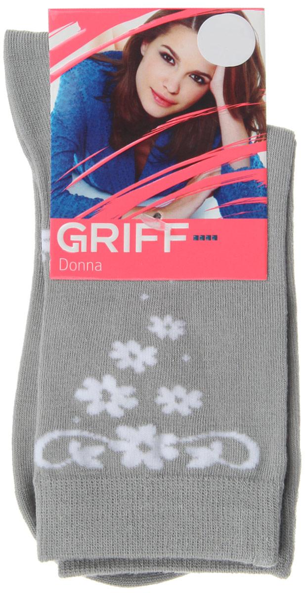Носки женские Цветочки. D264D264Женские носки Griff Цветочки изготовлены из высококачественного сырья. Носки очень мягкие на ощупь, а широкая резинка плотно облегает ногу, не сдавливая ее, благодаря чему вам будет комфортно и удобно. Усиленная пятка и мысок обеспечивают надежность и долговечность. Носки оформлены оригинальным принтом.