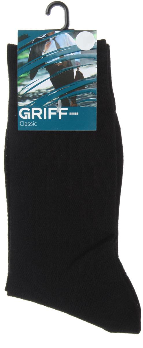 НоскиA21Мужские носки Griff Classic, вывязанные техникой платировки, изготовлены из высококачественного сырья с добавлением полиамидных волокон, которые обеспечивают великолепную посадку. Носки отличаются элегантным внешним видом. Удобная широкая резинка идеально облегает ногу и не пережимает сосуды, усиленные пятка и мысок повышают износоустойчивость носка, а удлиненный паголенок придает более эстетичный вид.