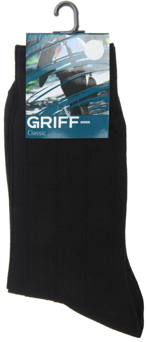 A41Мужские носки Griff Classic, вывязанные техникой платировки, изготовлены из высококачественного сырья с добавлением полиамидных волокон, которые обеспечивают великолепную посадку. Носки отличаются элегантным внешним видом. Удобная широкая резинка идеально облегает ногу и не пережимает сосуды, усиленные пятка и мысок повышают износоустойчивость носка, а удлиненный паголенок придает более эстетичный вид.