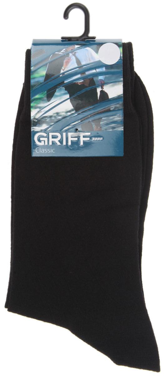Носки мужские Classic. A5A5Мужские носки Griff Classic изготовлены из высококачественного сырья с добавлением полиамидных волокон, которые обеспечивают великолепную посадку. Носки отличаются элегантным внешним видом. Удобная широкая резинка идеально облегает ногу и не пережимает сосуды, усиленные пятка и мысок повышают износоустойчивость носка, а удлиненный паголенок придает более эстетичный вид.