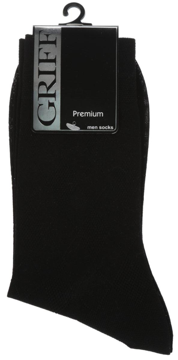 E5Мужские носки Griff Premium изготовлены из мерсеризованого хлопка с добавлением полиамидных волокон, которые обеспечивают великолепную посадку. Носки с орнаментом отличаются элегантным внешним видом. Удобная широкая резинка идеально облегает ногу и не пережимает сосуды, усиленные пятка и мысок повышают износоустойчивость носка, а удлиненный паголенок придает более эстетичный вид.