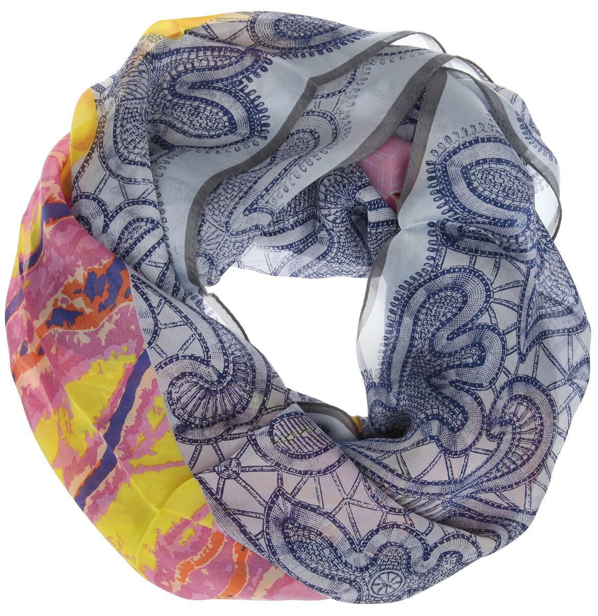 Платок216112-1IСтильный женский платок Moltini станет великолепным завершением любого наряда. Платок изготовлен из 100% шелка и оформлен оригинальным орнаментом. Классическая квадратная форма позволяет носить платок на шее, украшать им прическу или декорировать сумочку. Такой платок превосходно дополнит любой наряд и подчеркнет ваш неповторимый вкус и элегантность.