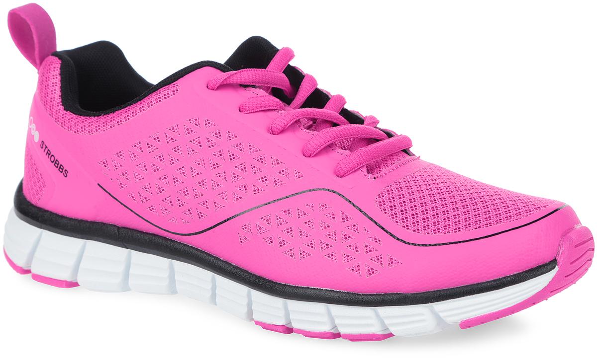 Кроссовки женские. F6401-11F6401-11Стильные женские кроссовки от Strobbs подходят как для активного отдыха, так и для повседневной носки. Верх модели изготовлен из текстиля с полимерным покрытием. По бокам и на мыске обувь оформлена принтом в виде полосы и символики бренда, на язычке - фирменной вставкой. Ярлычок на заднике предназначен для более удобного надевания обуви. Классическая шнуровка надежно зафиксирует изделие на ноге. Текстильная подкладка предотвратит натирание. Стелька из ЭВА материла с текстильным верхним покрытием обеспечит комфорт. Подошва из ЭВА и ПУ оснащена рифлением для лучшей цепки с поверхностями. Яркие и удобные кроссовки придутся вам по душе.