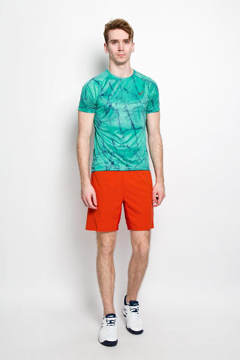 Футболка130306-0187Стильная мужская футболка для тенниса Asics Fujitrail Graphic SS, выполненная из переработанного полиэстера, обладает высокой теплопроводностью, воздухопроницаемостью и гигроскопичностью и великолепно отводит влагу, оставляя тело сухим даже во время интенсивных тренировок. Такая футболка превосходно подойдет для занятий спортом и активного отдыха. Модель с короткими рукавами-реглан и круглым вырезом горловины - идеальный вариант для занятий спортом. Рукава-реглан обеспечат свободу движений. Футболка оформлена оригинальным ярким принтом и дополнена светоотражающими деталями. Такая модель подарит вам комфорт в течение всего дня и послужит замечательным дополнением к вашему гардеробу.