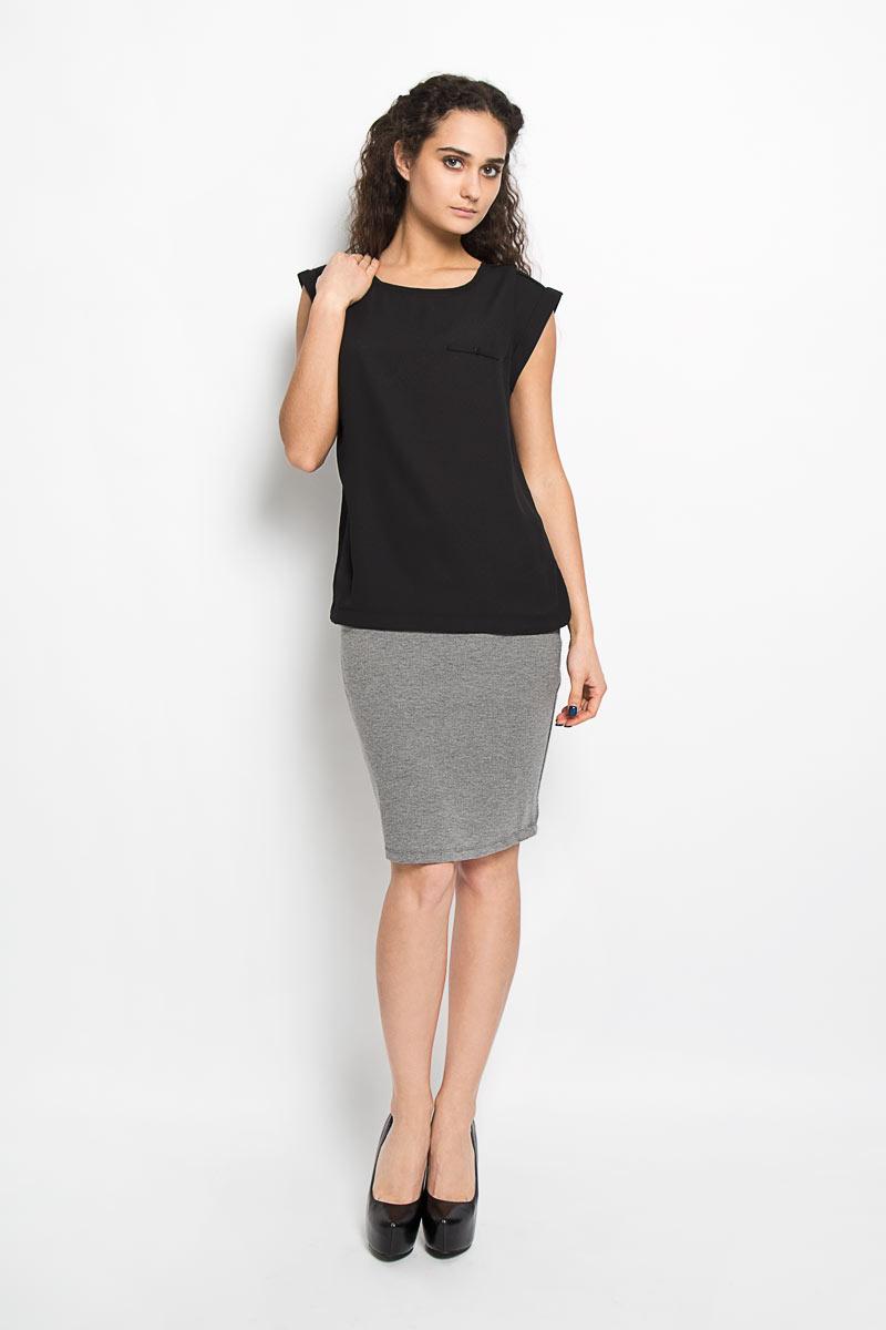 Блузка женская Harlyn. 1015604410156044 001Модная и стильная блузка Broadway Harlyn выполненная из высококачественного материала, благодаря своей универсальности идеально впишется в любой гардероб. Перед блузки выполнен из полупрозрачного полиэфира, а спинка из мягкого и приятного на ощупь материала - полиэфира с добавлением вискозы. Модель с короткими цельнокроеными рукавами, круглым вырезом горловины и разрезами по бокам оформлена имитацией кармашка с пуговицей. Рукава дополнены отворотами. Такая модель, несомненно, понравится ее обладательнице и послужит отличным дополнением к гардеробу.