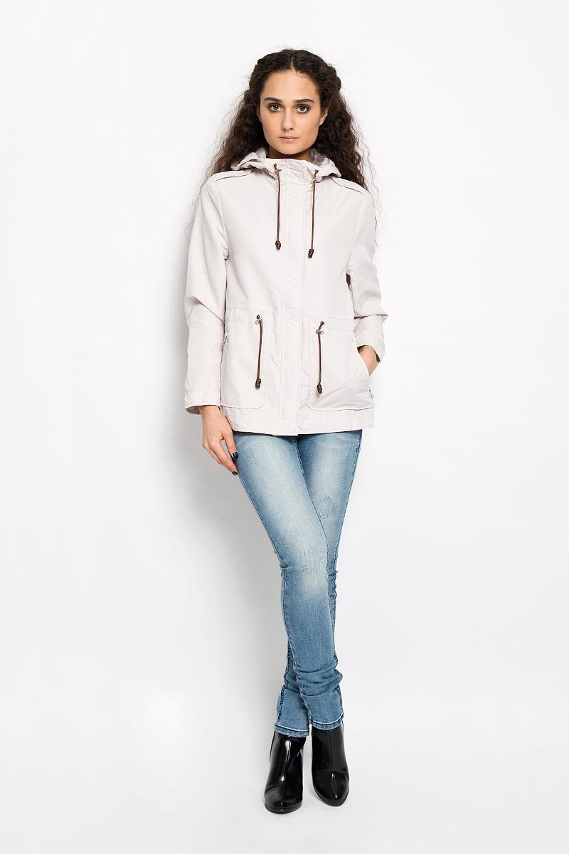Куртка женская Berit. 1015601510156015 046Стильная женская удлиненная куртка Broadway Berit выполнена из высококачественного плотного материала, рассчитана на прохладную погоду. Она поможет вам почувствовать себя максимально комфортно и стильно. Модель с длинными рукавами, несъемным капюшоном застегивается на застежку-молнию и дополнительно ветрозащитным клапаном на металлические кнопки. На плечиках модель оформлена декоративными хлястиками. Капюшон и линия талии дополнены утягивающим шнурком со стопперами. Спереди у куртки располагаются два врезных кармана на застежках-молниях. На спинке снизу декоративный разрез - 10 см. В этой куртке вам будет комфортно. Модная фактура ткани, отличное качество, великолепный дизайн.