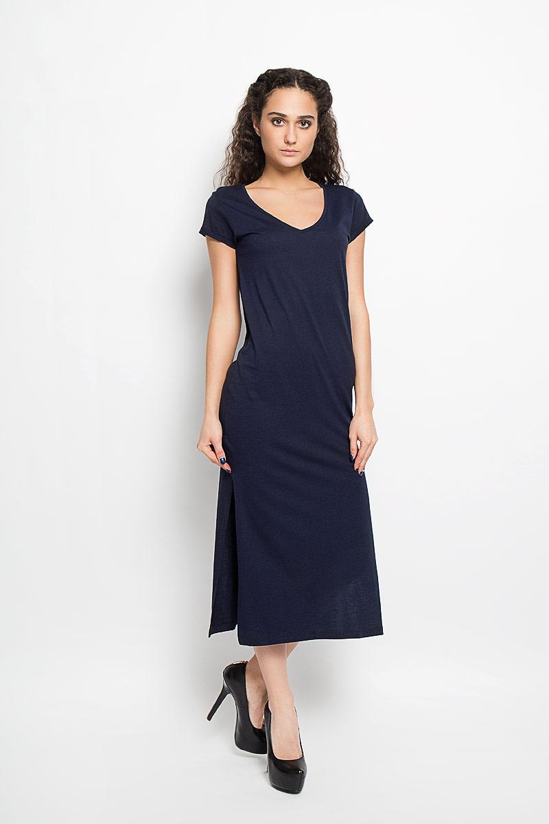 10156206_378Модное платье Broadway поможет создать стильный образ. Платье выполнено из хлопка и вискозы, очень мягкое, приятное к телу, не сковывает движения и хорошо пропускает воздух. Модель с V-образным вырезом горловины и короткими рукавами дополнена по бокам двумя эффектными разрезами. На рукавах предусмотрены декоративные отвороты. Лаконичный дизайн и совершенство стиля подчеркнут вашу индивидуальность.