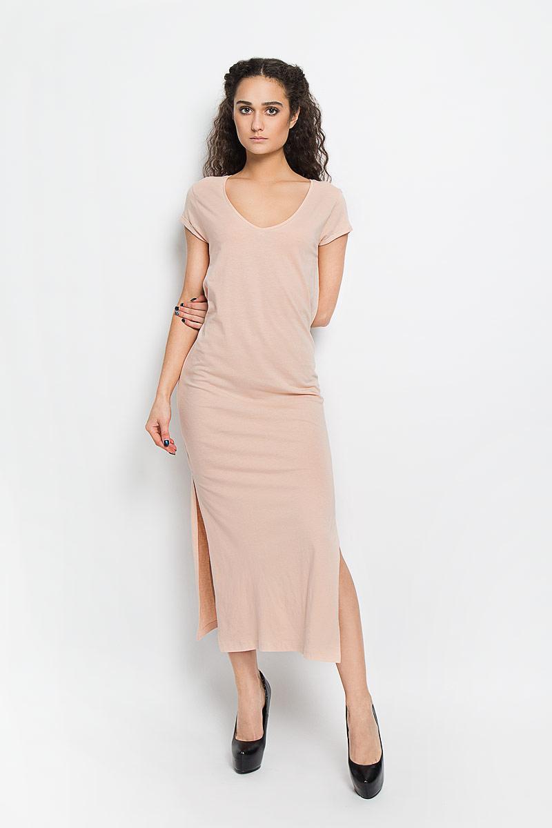 Платье. 1015620610156206_378Модное платье Broadway поможет создать стильный образ. Платье выполнено из хлопка и вискозы, очень мягкое, приятное к телу, не сковывает движения и хорошо пропускает воздух. Модель с V-образным вырезом горловины и короткими рукавами дополнена по бокам двумя эффектными разрезами. На рукавах предусмотрены декоративные отвороты. Лаконичный дизайн и совершенство стиля подчеркнут вашу индивидуальность.