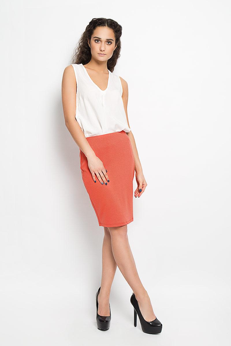Юбка Diara. 1015620010156200 373Эффектная юбка Broadway Diara, выполненная из полиэстера с добавлением вискозы и эластана, подчеркнет вашу женственность и неповторимый стиль. Модель заужена к низу и на поясе дополнена эластичной резинкой. Модная юбка-мини выгодно освежит и разнообразит ваш гардероб. Создайте женственный образ и подчеркните свою яркую индивидуальность!