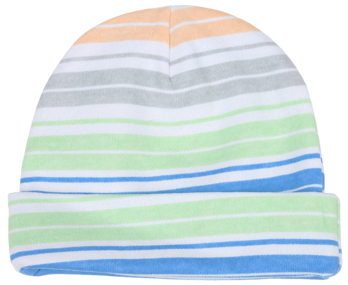 Шапочка6311_ВЛ15_полоски 2Комфортная шапочка для девочки Трон-плюс идеально подойдет вашей малышке. Изделие изготовлено из двойного трикотажного полотна, мягкое и приятное на ощупь, позволяет коже дышать. Модель с отворотом оформлена принтом с разноцветными полосками по всей поверхности. Шапочка необходима любому младенцу, она защищает еще не заросший родничок, щадит чувствительный слух малыша, прикрывая ушки, а также предохраняет от теплопотерь. В такой шапочке ваш ребенок будет чувствовать себя уютно и комфортно! Уважаемые клиенты! Размер, доступный для заказа, является обхватом головы.