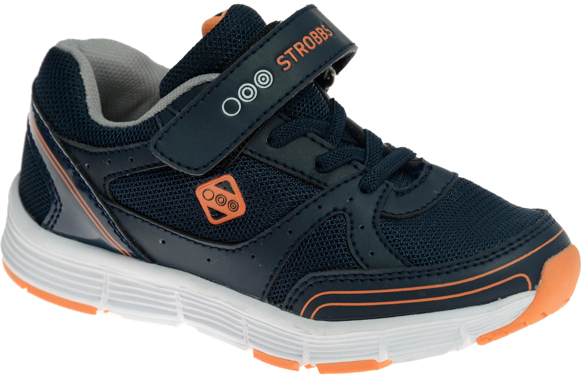 КроссовкиS1425-2Стильные кроссовки для мальчика Strobbs отлично подойдут для активного отдыха и повседневной носки. Верх модели выполнен из дышащего текстиля со вставками из синтетической кожи. Удобная шнуровка и хлястик на липучке надежно зафиксируют модель на стопе. Особая форма подошвы из термопластичной резины обеспечит удобство при ходьбе.