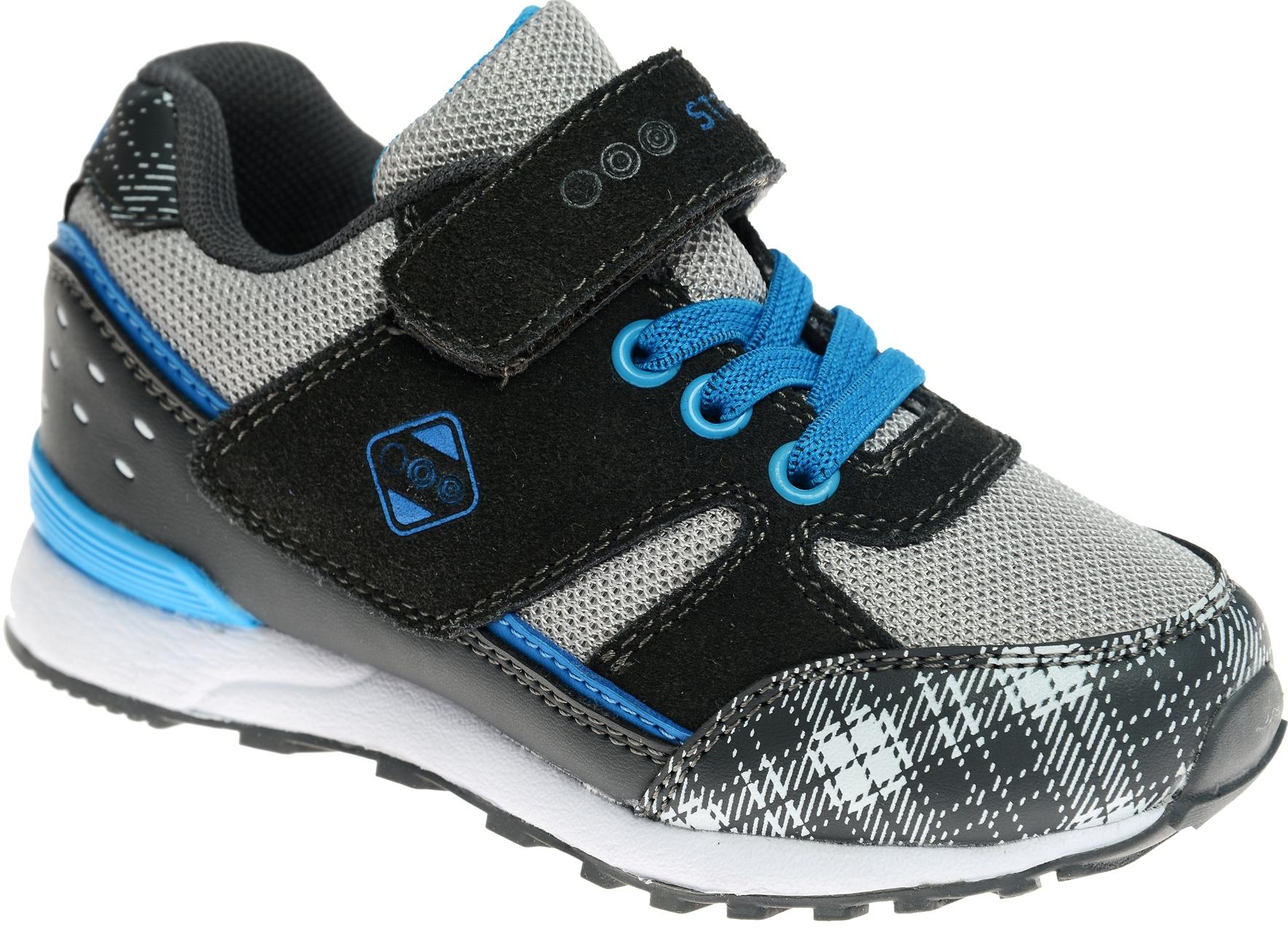 КроссовкиS1402-04Стильные кроссовки Strobbs отлично подойдут для активного отдыха и повседневной носки. Верх модели выполнен из дышащего текстиля со вставками из искусственной кожи и замши. Удобная шнуровка и хлястик на липучке надежно зафиксируют модель на стопе. Особая форма подошвы обеспечит удобство при ходьбе.