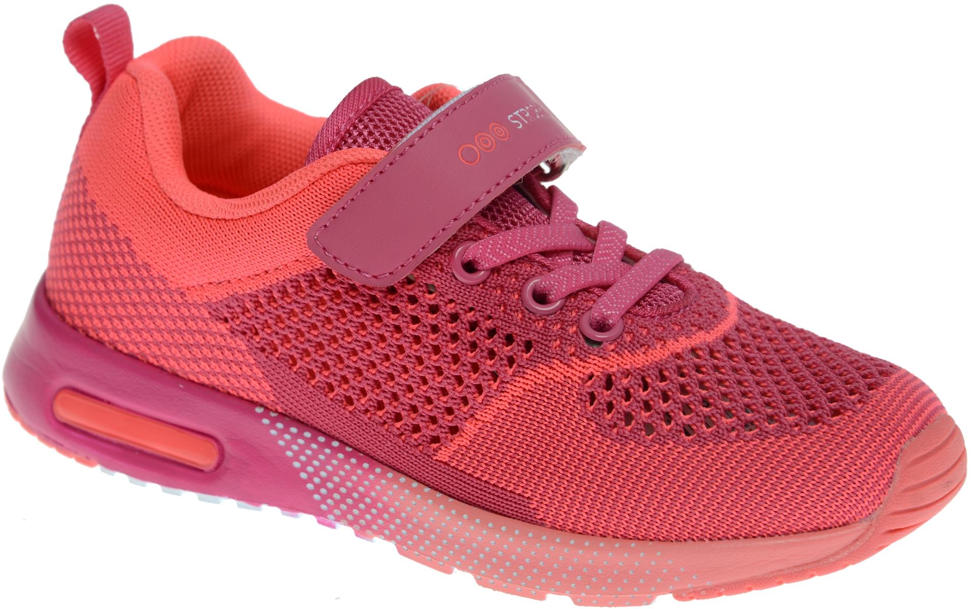 КроссовкиN1548-11Стильные кроссовки для девочки Strobbs отлично подойдут для активного отдыха и повседневной носки. Верх модели выполнен из вязаного текстиля. Удобная шнуровка и хлястик на липучке надежно зафиксируют модель на стопе. Особая форма подошвы обеспечит удобство при ходьбе и отличную амортизацию.