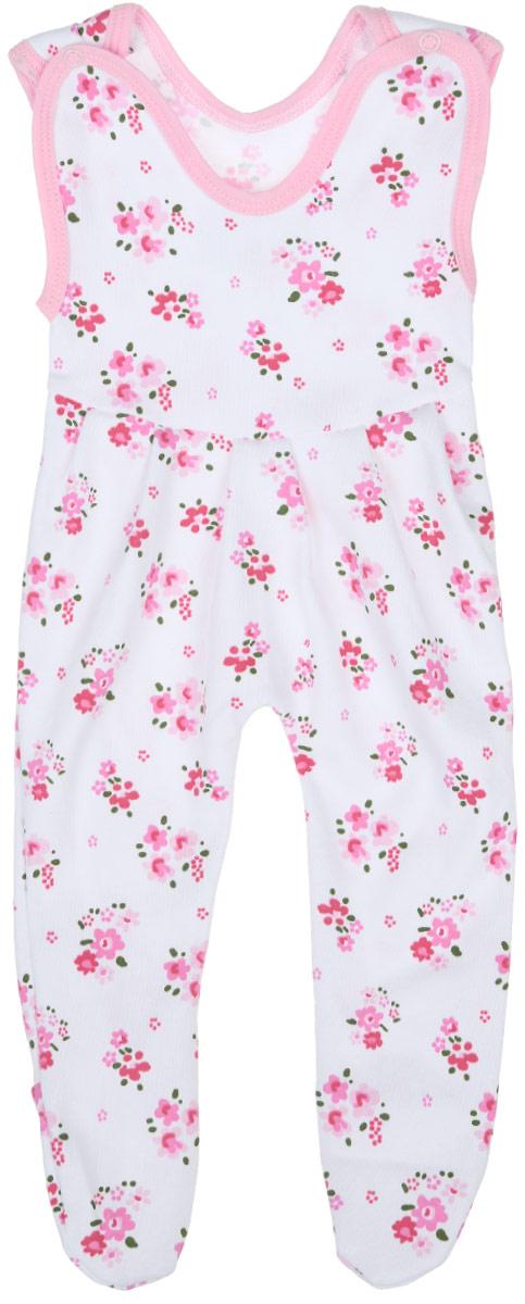 Ползунки5211_ОЗ14_цветыПолзунки с грудкой для девочки Трон-плюс - очень удобный и практичный вид одежды для малышей. Они отлично сочетаются с футболками и кофточками, подходят для ношения с подгузником и без него. Ползунки выполнены из натурального хлопка, благодаря чему они очень мягкие и приятные на ощупь, не раздражают нежную кожу ребенка и хорошо вентилируются, обеспечивая комфорт. Ползунки с закрытыми ножками (след отрезной) застегиваются сверху на две кнопки, что помогает с легкостью переодеть малышку. Спереди модели заложены небольшие складки. Изделие оформлено цветочным принтом. Ползунки полностью соответствуют особенностям жизни младенца в ранний период, не стесняя и не ограничивая его в движениях.