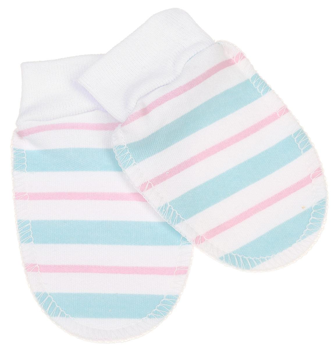 Рукавички5916_ОЗ14_полоскиРукавички для новорожденного Трон-плюс обеспечат вашему ребенку комфорт во время сна и бодрствования, предохраняя нежную кожу от царапин. Изделие изготовлено из натурального хлопка, отлично пропускает воздух, обеспечивая комфорт. Швы выполнены наружу, что будет для малыша особенно удобным. Рукавички имеют широкие эластичные манжеты, которые не пережимают ручку ребенка. Модель оформлена принтом в полоску. Мягкие рукавички сделают сон вашего ребенка спокойным и безопасным.