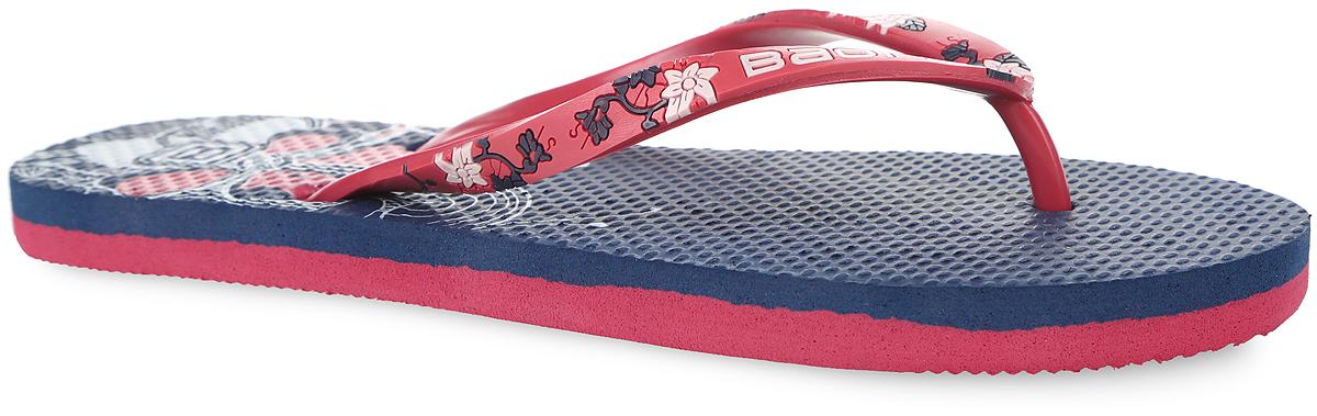 B405006Стильные женские сланцы от Baon очаруют вас с первого взгляда. Верх модели изготовлен из ПВХ. Верхняя поверхность подошвы оформлена цветочным принтом и фирменным логотипом. Ремешки с перемычкой, оформленные названием бренда и цветочным принтом, гарантируют надежную фиксацию модели на ноге. Рифление на верхней поверхности подошвы предотвращает выскальзывание ноги. Рельефное основание подошвы обеспечивает уверенное сцепление с любой поверхностью. Удобные сланцы прекрасно подойдут для похода в бассейн или на пляж.