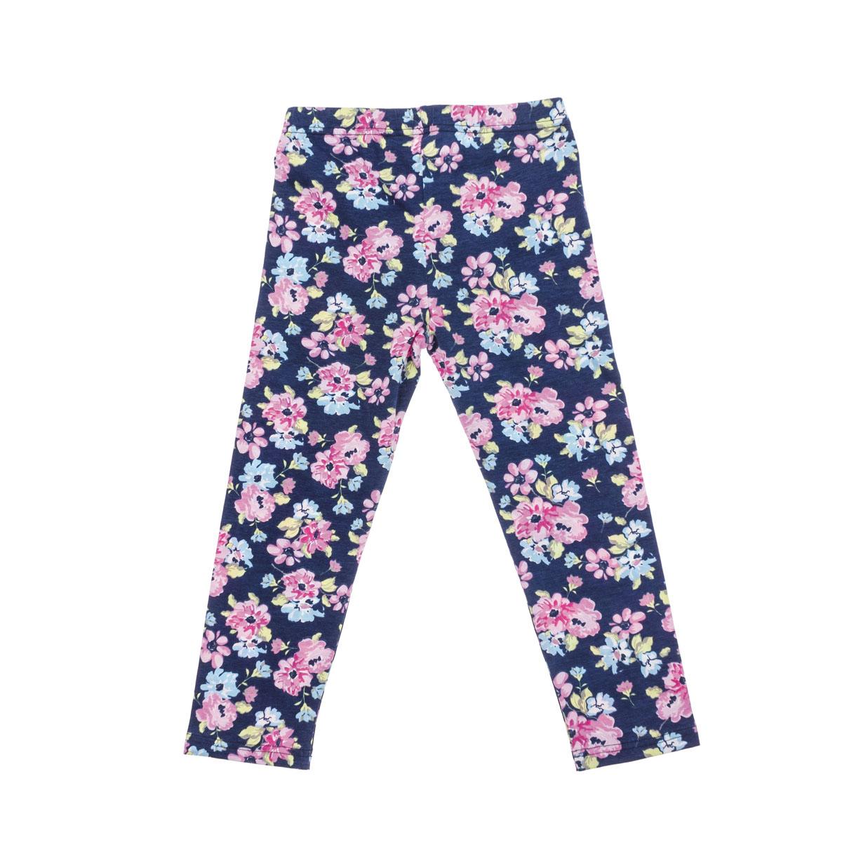Брюки для девочек. 264021264021Уютные хлопковые леггинсы с нежным цветочным принтом. Пояс на резинке.