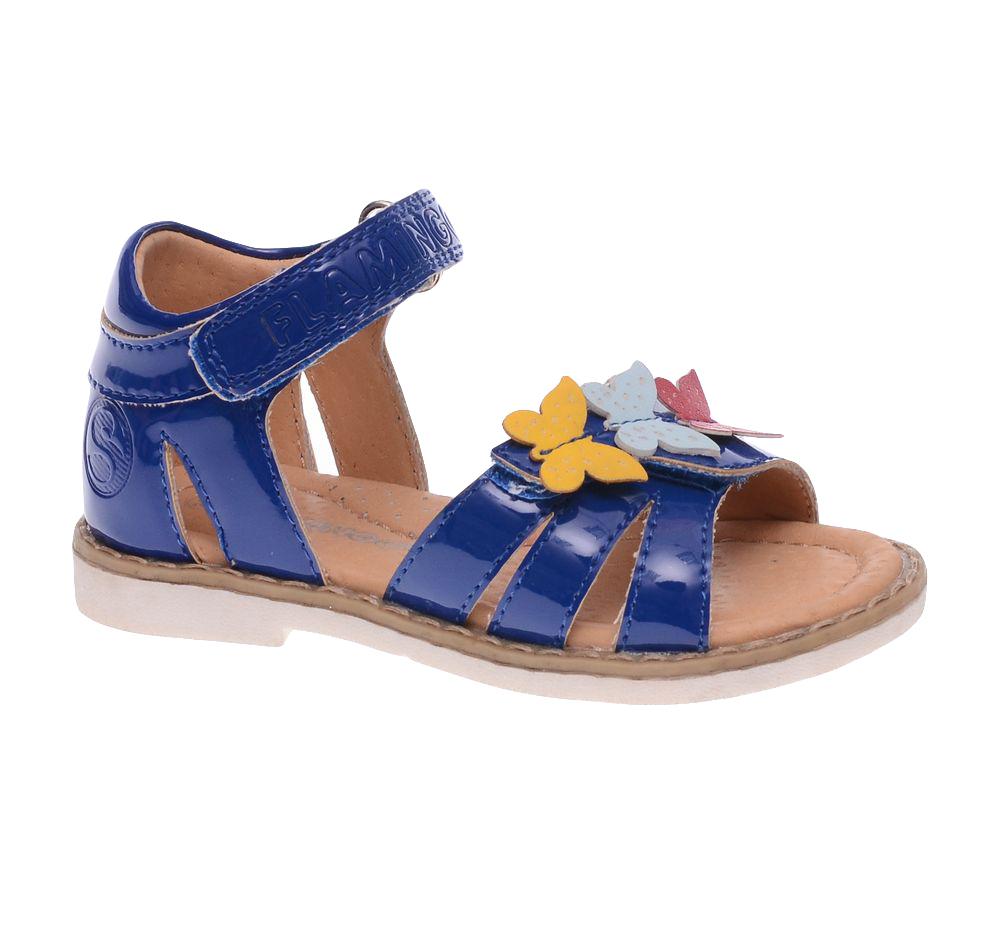 Сандалии для девочки. 61-CS1261-CS127Прелестные сандалии от Flamingo придутся по душе вашей юной моднице! Модель, изготовленная из искусственной лакированной кожи, оформлена символикой бренда и декоративными бабочками. Внутренняя поверхность из натуральной кожи не натирает. Ремешки с застежками-липучками прочно зафиксируют модель на ножке. Стелька из натуральной кожи оснащена супинатором, который обеспечивает правильное положение стопы ребенка при ходьбе и предотвращает плоскостопие. Подошва с рифлением обеспечивает идеальное сцепление с любыми поверхностями. Стильные сандалии - незаменимая вещь в гардеробе каждой девочки.