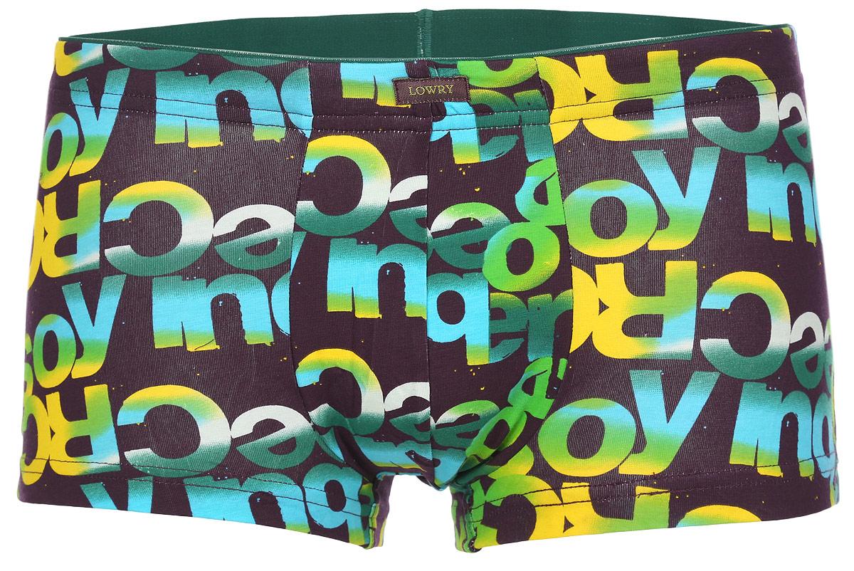 Трусы-боксеры мужские. MSHL-391MSHL-391Классические трусы-боксеры Lowry выполнены из хлопка с добавлением лайкры. Удобная посадка и широкая резинка на талии обеспечат наибольший комфорт. Модель оформлена принтовой разноцветной надписью. Модель создана для тех, кто предпочитает комфорт, практичность и современный дизайн.