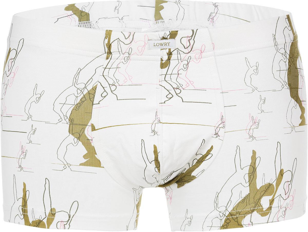 Трусы-боксеры мужские. MSHL-317MSHL-317Классические трусы-боксеры Lowry выполнены из хлопка с добавлением лайкры. Удобная посадка и широкая резинка на талии обеспечат наибольший комфорт. Резинка оформлена нашивкой с названием бренда. Трусы декорированы оригинальным принтом. Модель создана для тех, кто предпочитает комфорт, практичность и современный дизайн.