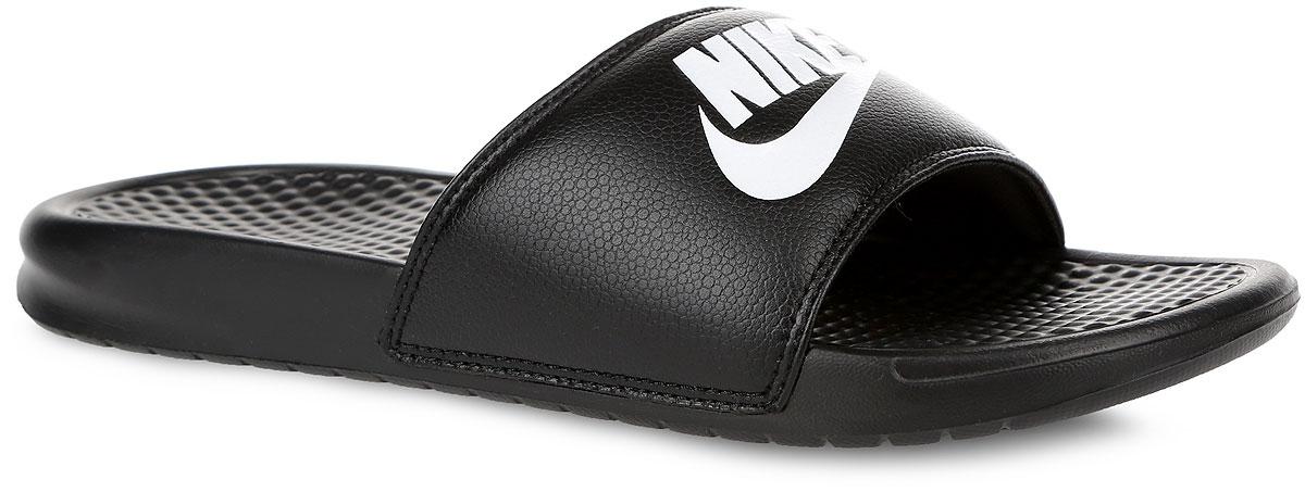 Шлепанцы мужские Benassi JDI. 343880343880-403Мужские шлепанцы Benassi JDI от Nike подарят вам максимальный комфорт. Верх модели, выполненный из синтетической кожи, оформлен логотипом и названием бренда. Текстурированная стелька обеспечивает массажный эффект и способствует расслаблению ног. Цельная инжектированная подошва - для мягкости и невесомой амортизации. Рифление на подошве гарантирует идеальное сцепление с любой поверхностью. Модные шлепанцы покорят вас своим дизайном и удобством!