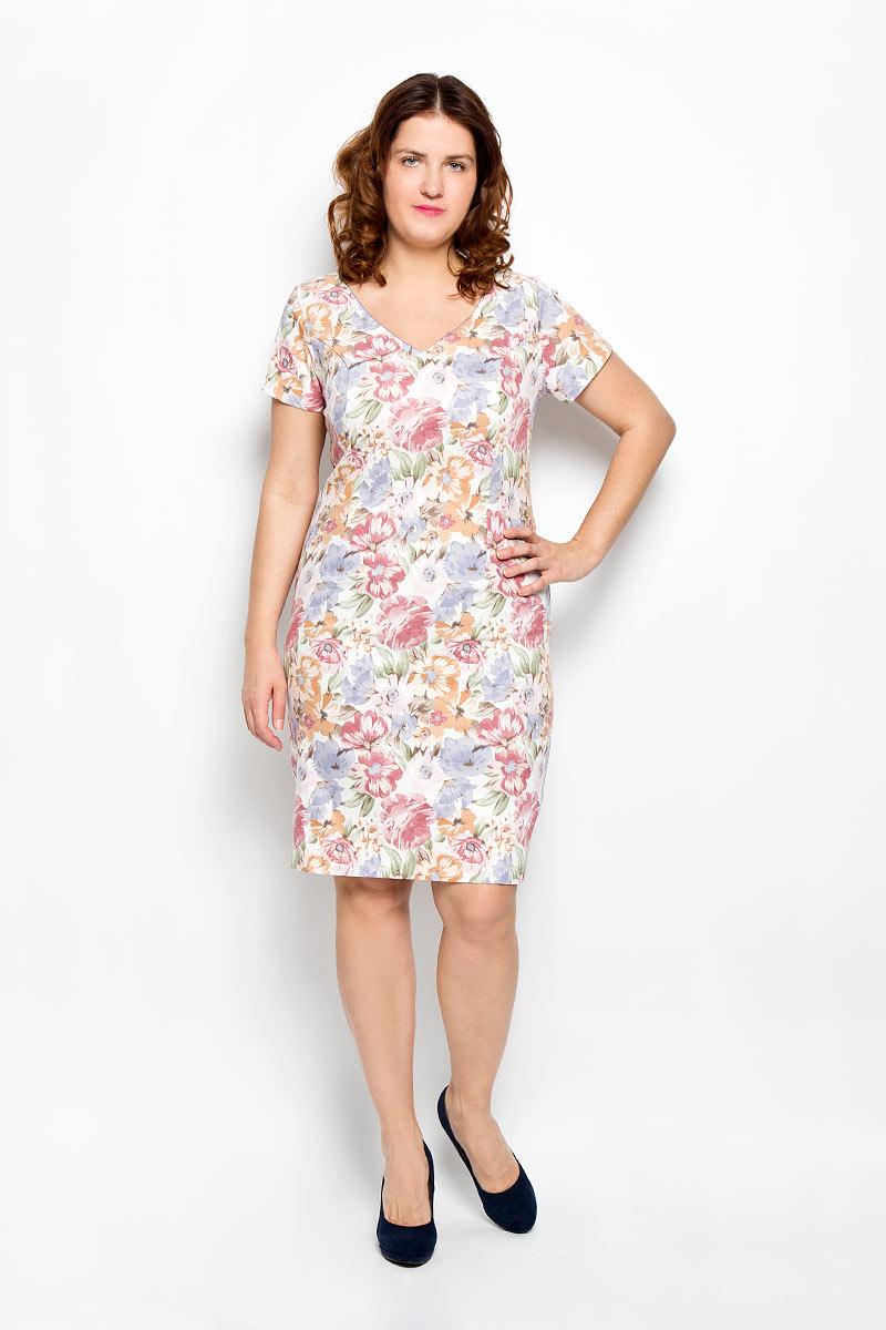 Платье. 1640-642м_цветы1640-642м_цветыПлатье Milana Style поможет создать яркий и красивый образ. Платье выполнено из мягкой эластичной вискозы, приятное к телу, не сковывает движений, хорошо пропускает воздух, обеспечивая комфорт. Модель с V-образным вырезом горловины и короткими рукавами застегивается по спинке на скрытую молнию. Сзади предусмотрен небольшой разрез. Оформлено изделие цветочным принтом. Такое платье станет ярким и модным дополнением к вашему гардеробу!