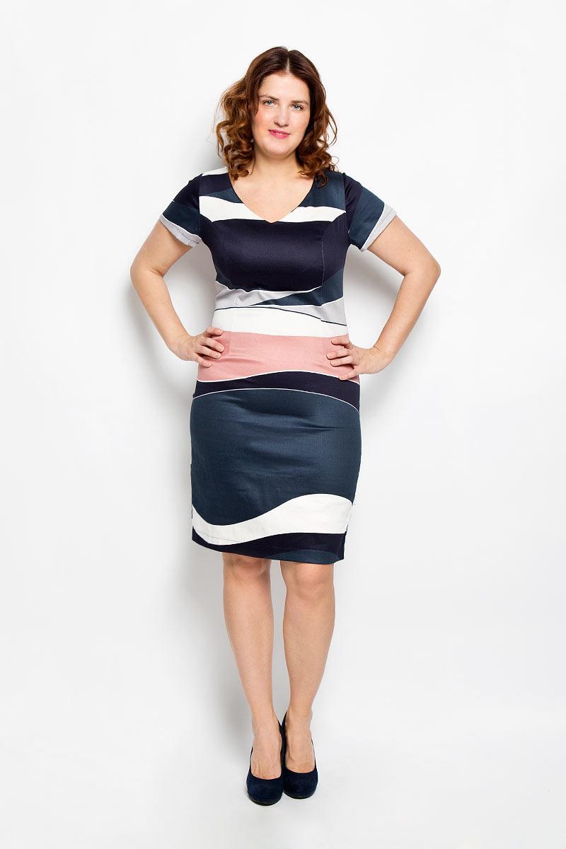 Платье. 1640-642м1640-642мПлатье Milana Style поможет создать яркий и красивый образ. Платье выполнено из мягкой эластичной вискозы, приятное к телу, не сковывает движений, хорошо пропускает воздух, обеспечивая комфорт. Модель с V-образным вырезом горловины и короткими рукавами застегивается по спинке на скрытую молнию. Сзади предусмотрен небольшой разрез. Оформлено изделие оригинальным принтом. Такое платье станет ярким и модным дополнением к вашему гардеробу!