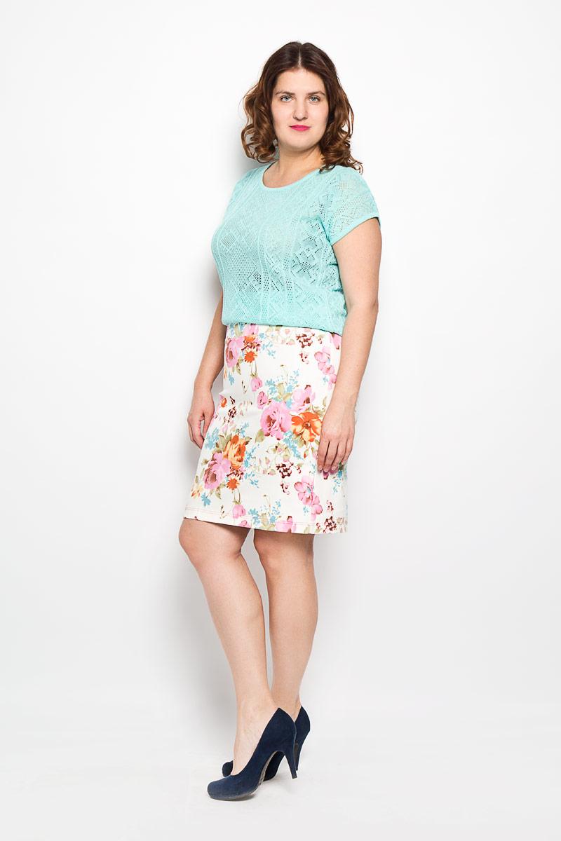 Юбка. 27-227-2Стильная юбка Milana Style выполнена из эластичного хлопка, она обеспечит вам комфорт и удобство при носке. Юбка-миди оформлена ярким цветочным принтом и дополнена эластичной резинкой на поясе. Модная юбка-миди выгодно освежит и разнообразит ваш гардероб. Классический фасон и оригинальное оформление этой юбки сделают ваш образ непревзойденным.
