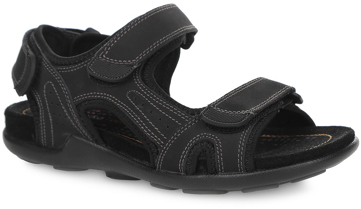 Сандалии для мальчика. 34037-134037-1Модные сандалии от Kapika придутся по душе вашему мальчику! Модель изготовлена из натуральной кожи и оформлена декоративной прострочкой. Ремешки на застежках-липучках, дополненные прорезиненными нашивками, прочно зафиксируют обувь на ноге и отрегулируют нужный объем. Кожаная стелька комфортна при движении. Перфорация на стельке позволяет ногам дышать. Подошва с протектором обеспечивает отличное сцепление с поверхностью. Практичные и стильные сандалии займут достойное место в гардеробе вашего мальчика.