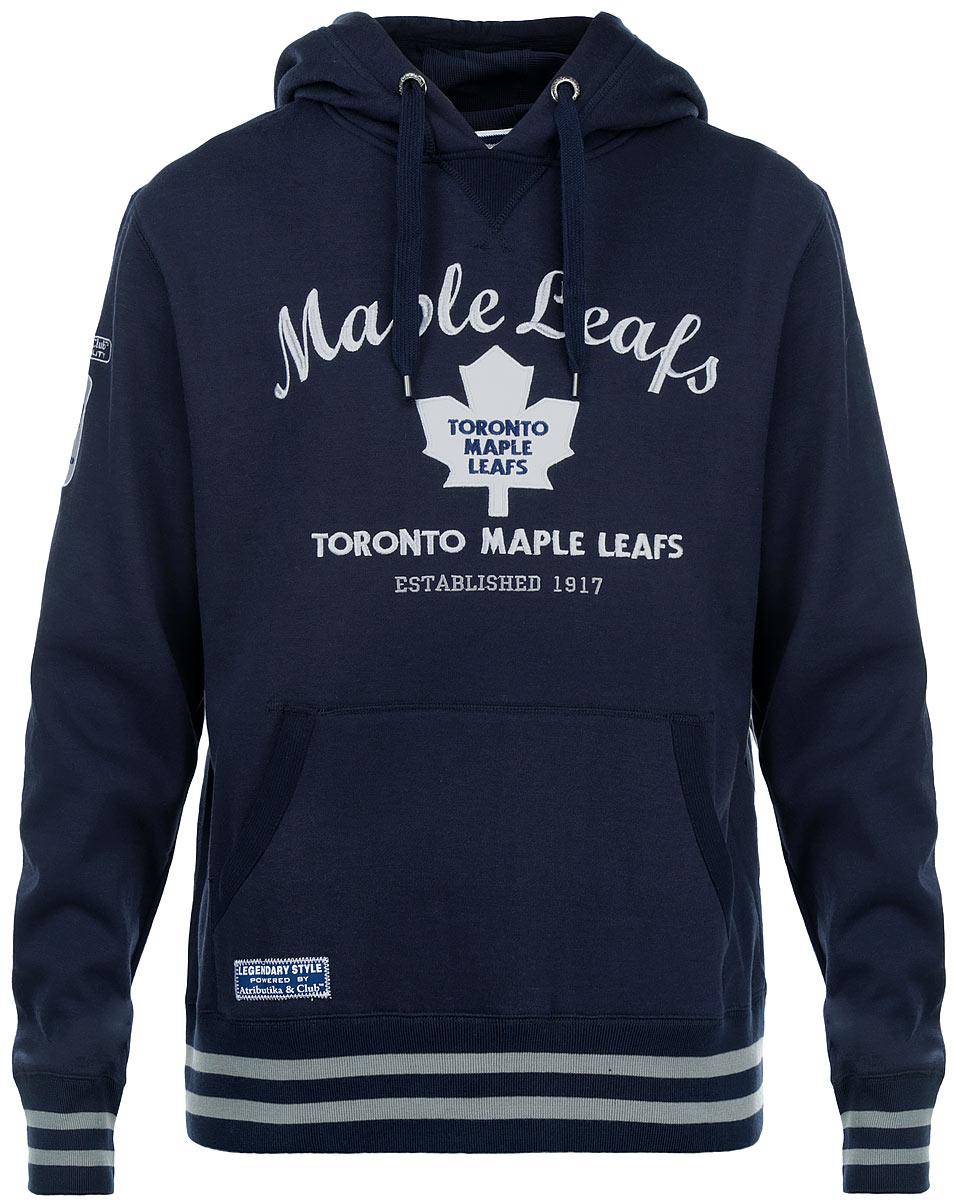 Толстовка с логотипом ХК35360Мужская толстовка NHL Toronto Maple Leafs, выполненная из хлопка с добавлением полиэстера, порадует любого поклонника знаменитого хоккейного клуба. Материал очень мягкий и приятный на ощупь, не сковывает движения и позволяет коже дышать. Лицевая сторона гладкая, а изнаночная - с мягким теплым начесом. Толстовка с капюшоном на кулиске спереди имеет вместительный карман-кенгуру. На груди модель оформлена аппликацией в виде эмблемы хоккейного клуба Toronto Maple Leafs и вышивками в виде надписей. Толстовка имеет широкую мягкую резинку по низу, что предотвращает проникновение холодного воздуха, и длинные рукава с широкими эластичными манжетами, не стягивающими запястья. Эта модная и в то же время комфортная толстовка отличный вариант как для активного отдыха, так и для занятий спортом.