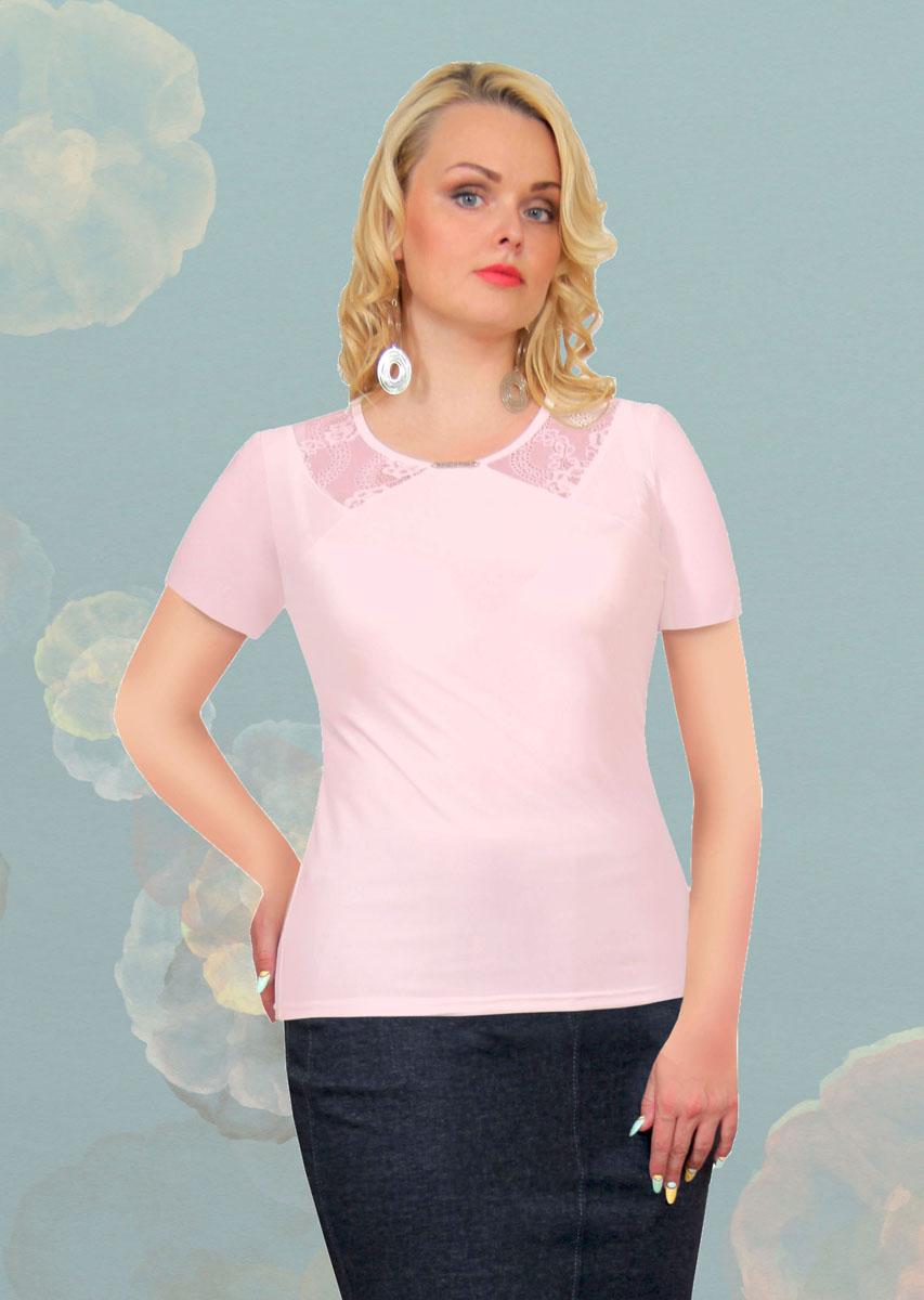 Блузка женская. 887м887мСтильная женская блузка Milana Style, выполненная из качественного материала, подчеркнет ваш уникальный стиль и поможет создать женственный образ. Модель с короткими рукавами и круглым вырезом горловины оформлена вставками из гипюра. Вырез горловины украшен оригинальным декоративным элементом. Такая блузка будет дарить вам комфорт в течение всего дня и послужит замечательным дополнением к вашему гардеробу.