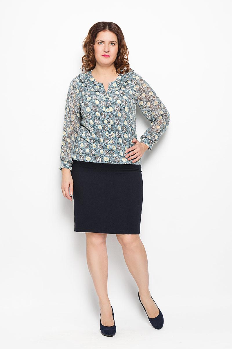 Блуза женская. 1343-624м1343-624мСтильная женская блуза Milana Style, выполненная из полиакрила с добавлением эластана, подчеркнет ваш уникальный стиль и поможет создать оригинальный женственный образ. Модель с полупрозрачными длинными рукавами и круглым воротничком оформлена декоративной планкой с пуговицами. Такая блуза займет достойное место в вашем гардеробе.