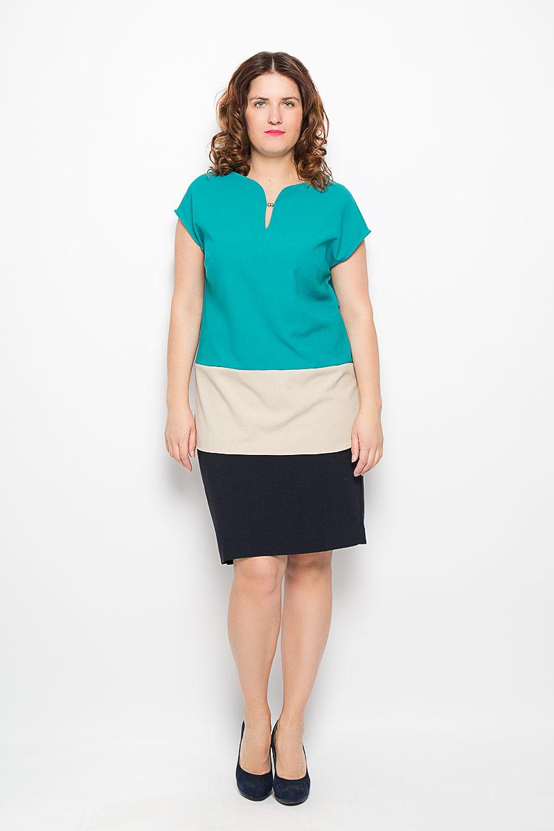 040316Стильная блузка Milana Style, изготовленная из льна с добавлением ПАНа, подчеркнет ваш уникальный стиль. Материал легкий, мягкий и приятный на ощупь, не сковывает движения и хорошо вентилируется. Блузка с круглым вырезом горловины и короткими рукавами-кимоно. Спереди блуза дополнена небольшим вырезом. Такая блузка будет дарить вам комфорт в течение всего дня и послужит замечательным дополнением к гардеробу.