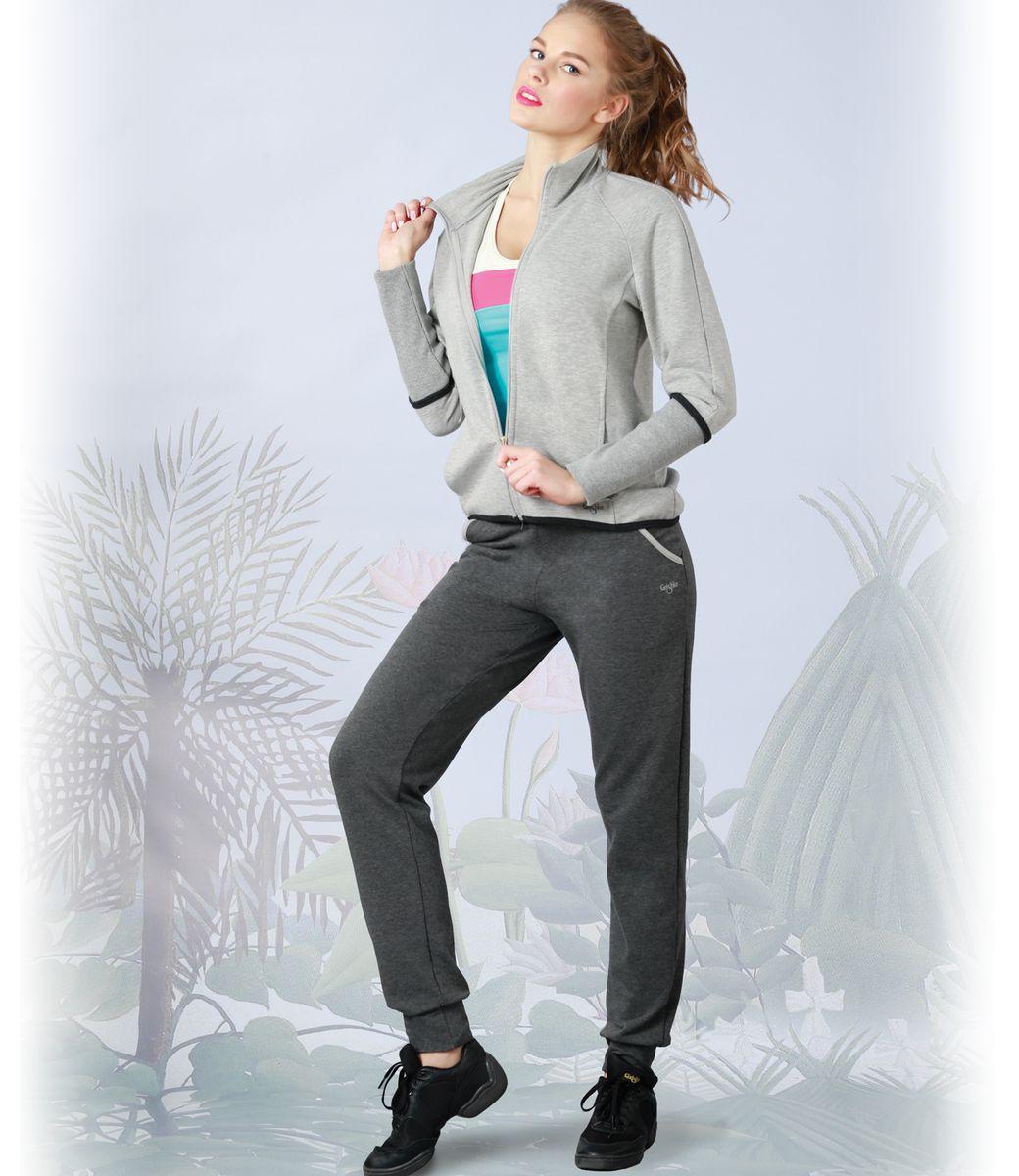 Брюки для фитнеса женские. AL- 2772AL- 2772Прямые спортивные брюки с манжетом и карманами из линии Grishko fitnes Такие брюки в новом сезоне - незаменимая вещь в спортивном и летнем гардеробе. Они отлично комбинируется с одеждой из линии Grishko fitness.. Толстовка изготовлена из материалов высокого качества — натурального меланжевого хлопка с добавлением лайкры. Прекрасный выбор для занятий фитнесом или активного отдыха.