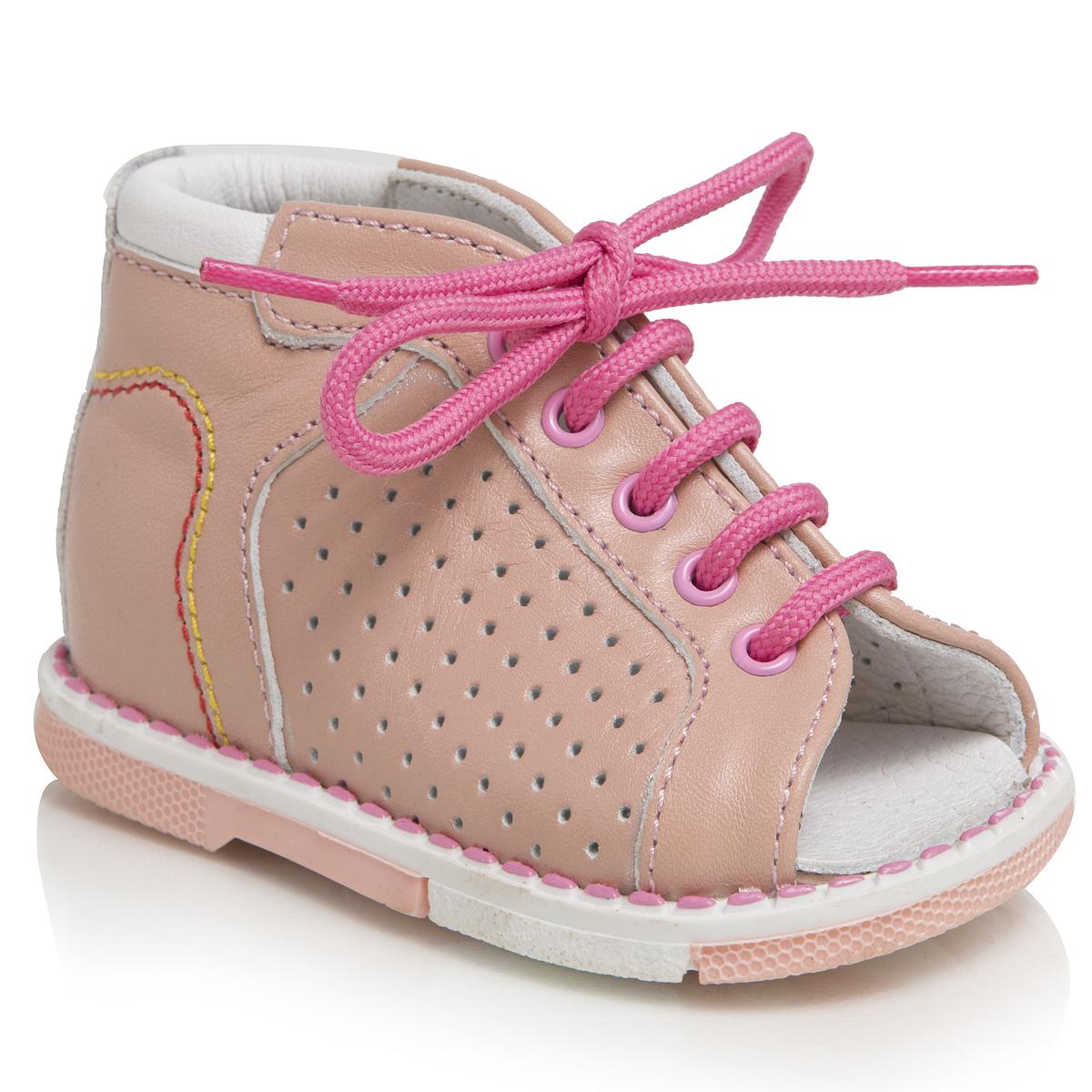Сандалии для девочек. 120-191120-191ТАШИ ОРТО - детская профилактическая ортопедическая обувь массового производства. Ее можно носить не только детям с признаками плоскостопия и косолапия , но и для профилактики подобных отклонений. А многим детям ортопедическая обувь НЕОБХОДИМА для коррекции стопы, исправления походки и осанки.