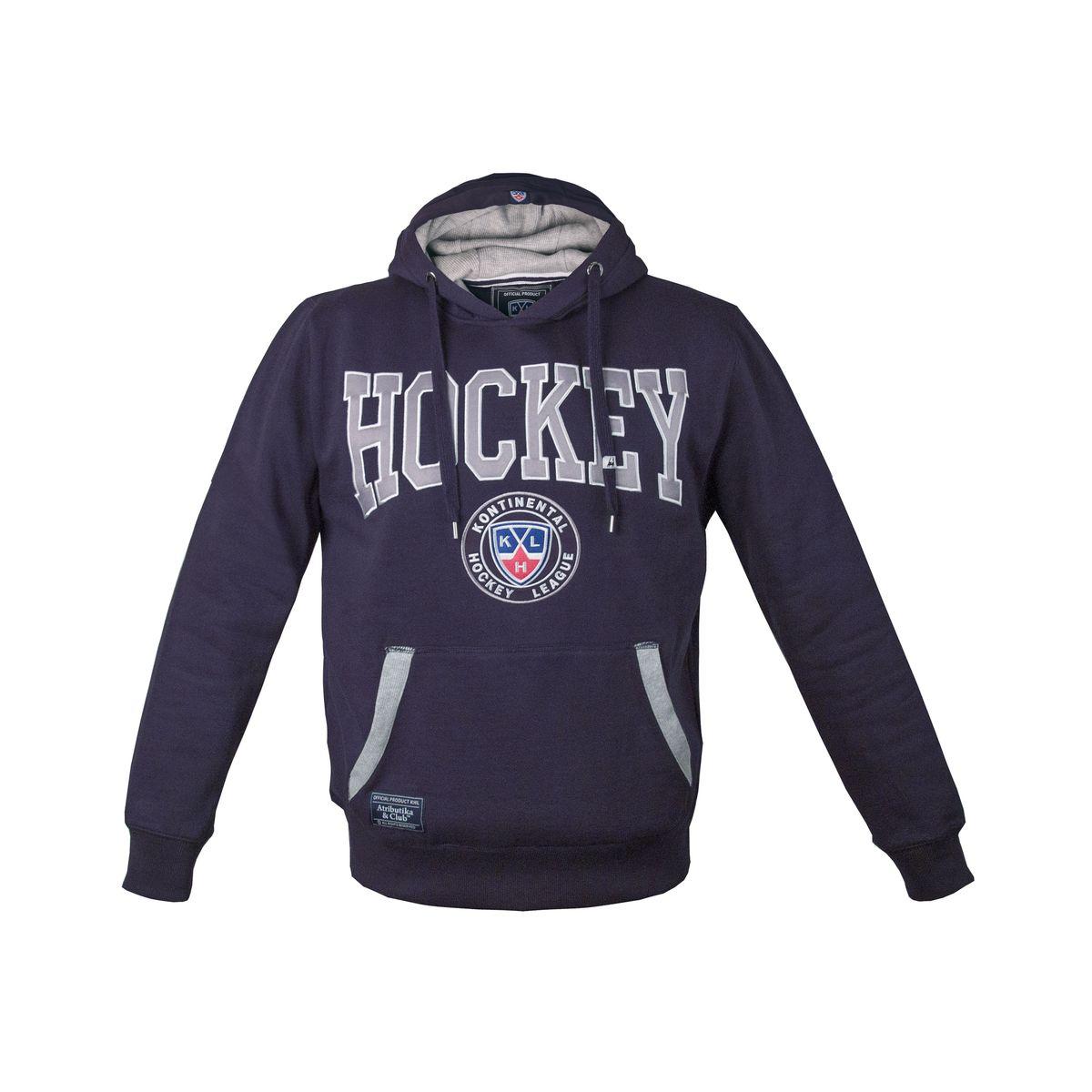 Толстовка с логотипом ХК321030Толстовка КХЛ с капюшоном и карман-кенгуру выполнена из высококачественного материала. Модель оформлена вышивкой в виде логотипа бренда.