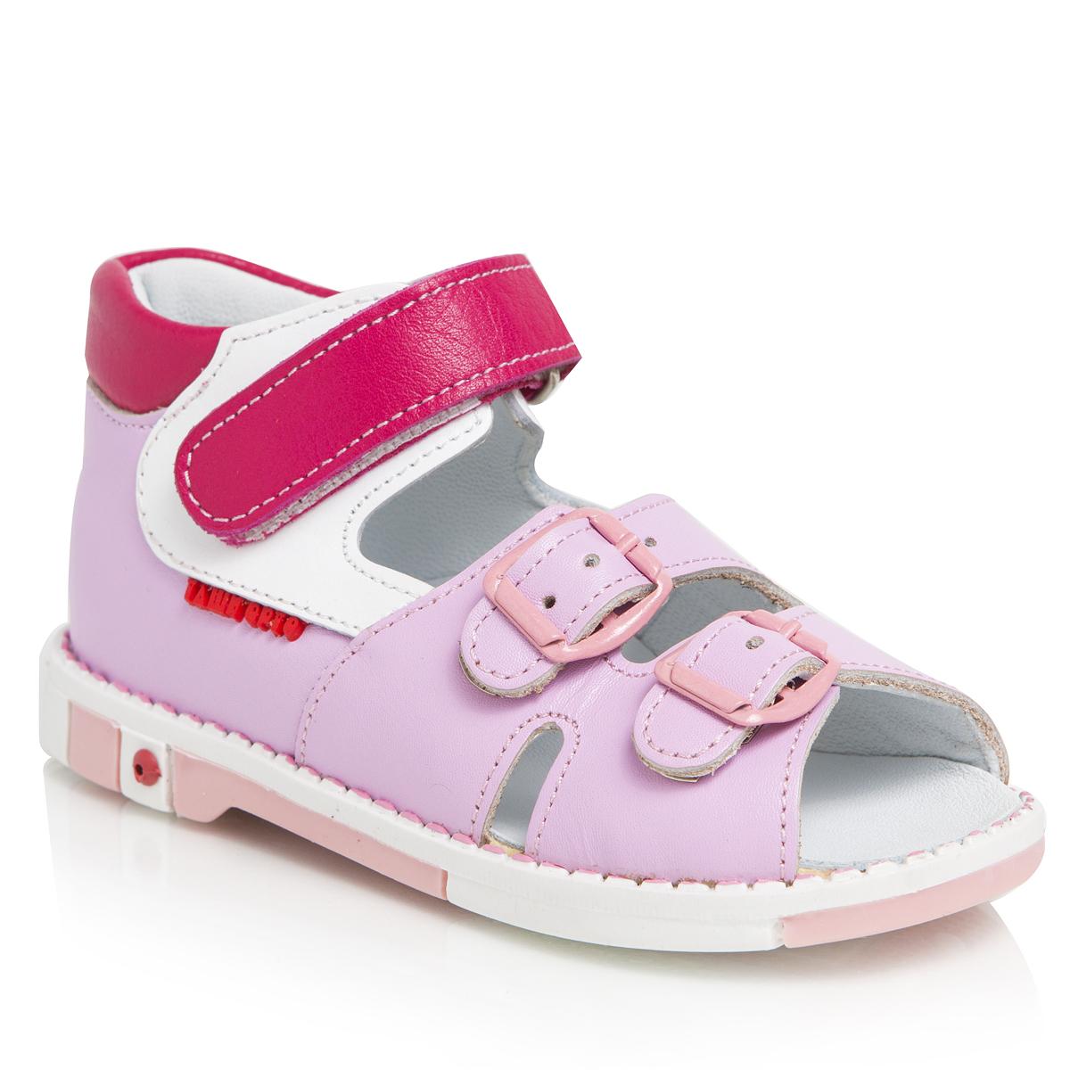 Сандалии для девочек. 301-16301-16ТАШИ ОРТО - детская профилактическая ортопедическая обувь массового производства. Ее можно носить не только детям с признаками плоскостопия и косолапия , но и для профилактики подобных отклонений. А многим детям ортопедическая обувь НЕОБХОДИМА для коррекции стопы, исправления походки и осанки.