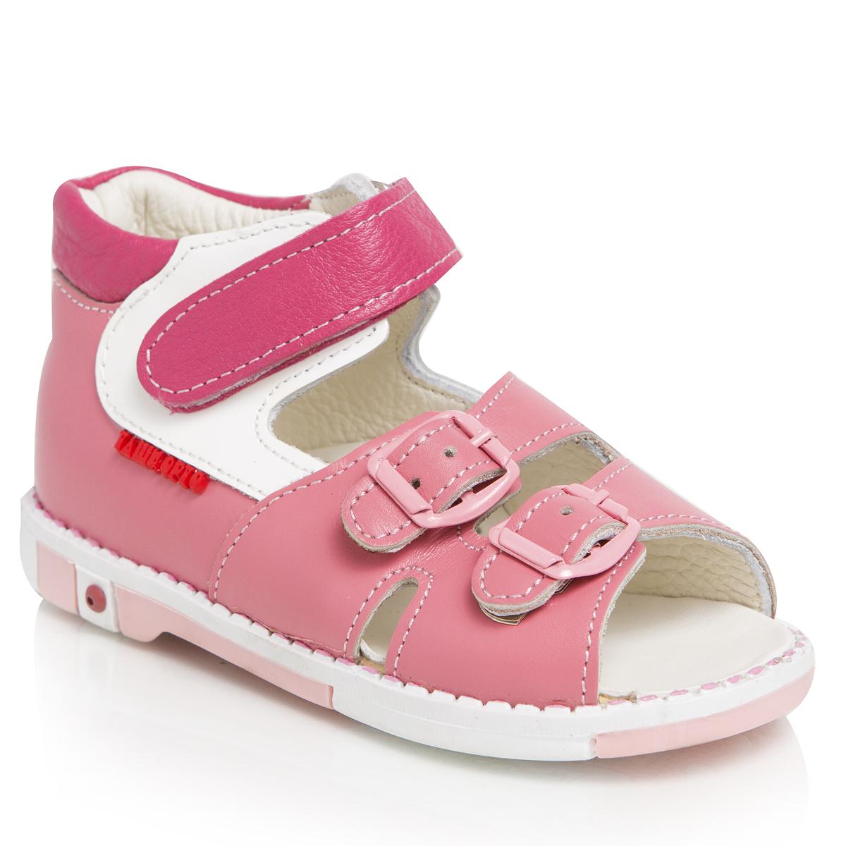 Сандалии для девочек. 301-39301-39ТАШИ ОРТО - детская профилактическая ортопедическая обувь массового производства. Ее можно носить не только детям с признаками плоскостопия и косолапия , но и для профилактики подобных отклонений. А многим детям ортопедическая обувь НЕОБХОДИМА для коррекции стопы, исправления походки и осанки.