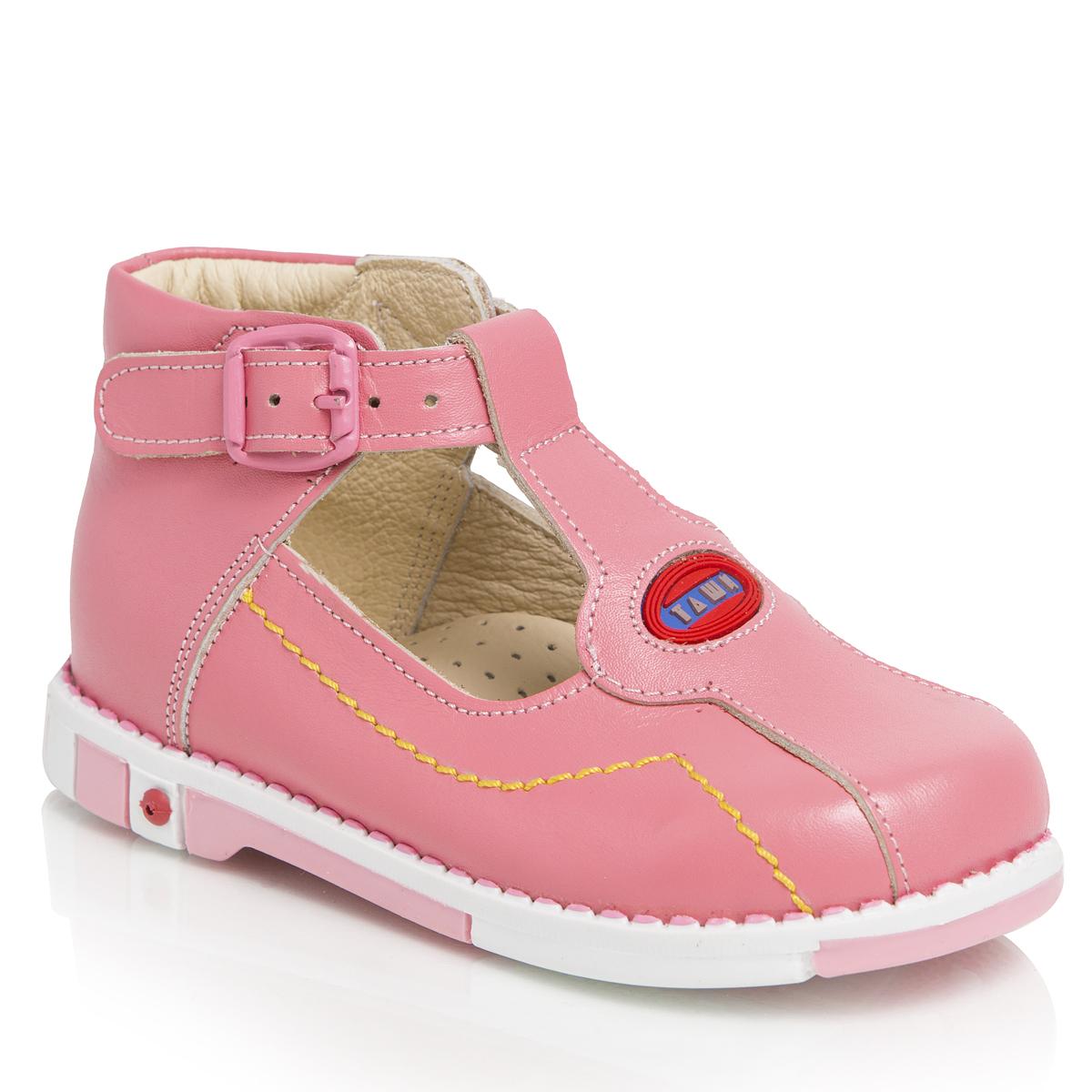 Туфли для девочек. 319-31319-31ТАШИ ОРТО - детская профилактическая ортопедическая обувь массового производства. Ее можно носить не только детям с признаками плоскостопия и косолапия , но и для профилактики подобных отклонений. А многим детям ортопедическая обувь НЕОБХОДИМА для коррекции стопы, исправления походки и осанки.