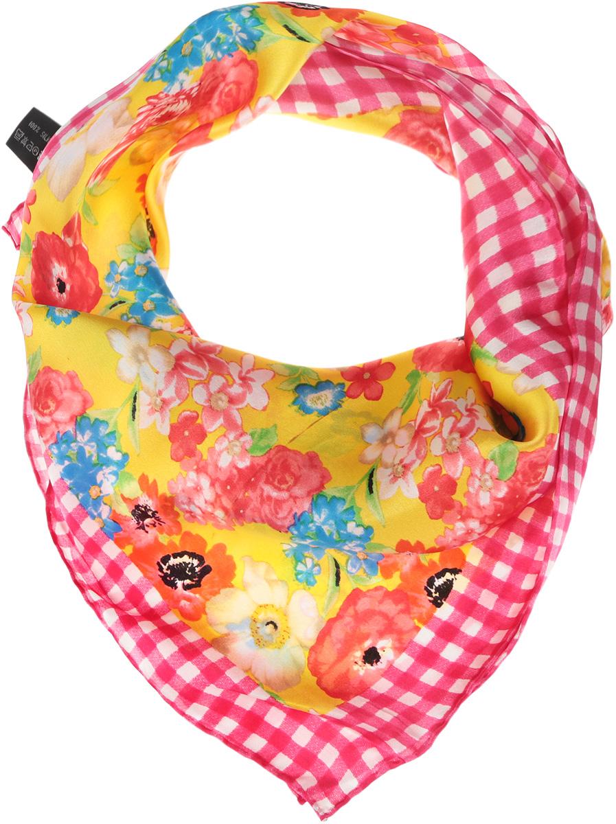 Платок5602629-13-15Нежный шелковый платок Venera станет нарядным аксессуаром, который призван подчеркнуть индивидуальность и очарование женщины. Яркий цветочный принт, обрамленный в рамку в клеточку, добавит настроения в ваш образ и привлечёт всеобщее внимание. Края платка качественно обработаны вручную. Этот модный аксессуар женского гардероба гармонично дополнит образ современной женщины, следящей за своим имиджем и стремящейся всегда оставаться стильной и элегантной.
