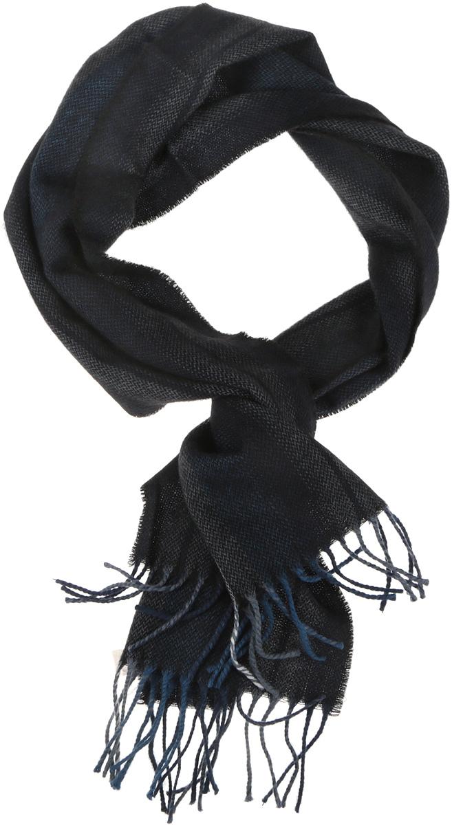 Шарф мужской. 50014325001432-14Классический мужской шарф Venera из 100% шерсти, создан подчеркнуть ваш неординарный вкус и согреть вас в прохладное время года. Модель оформлена ненавязчивым узором в полоску и декорирована по краям кисточками. Этот модный аксессуар не только согреет вас в холодное время года, но гармонично дополнит ваш образ.