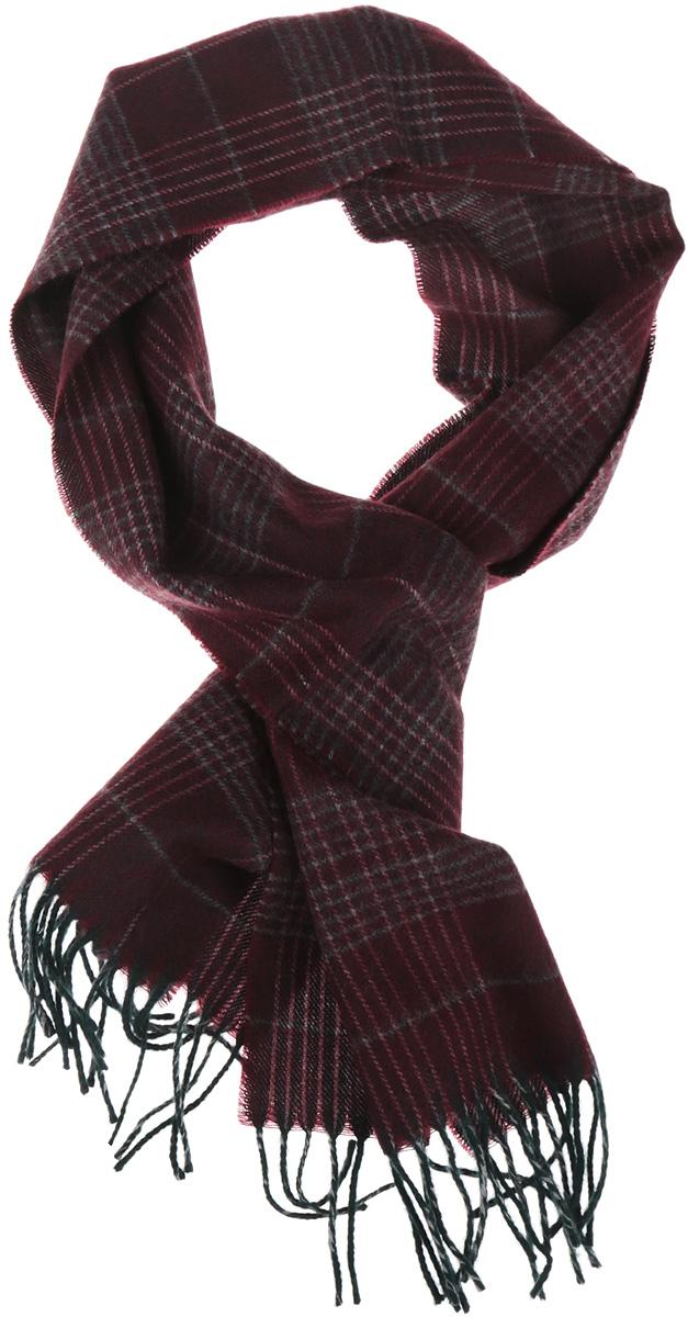 Шарф мужской. 5002532-295002532-29Классический мужской шарф Venera, выполненный из натуральной шерсти, очень мягкий и приятный на ощупь, согреет вас от осенних и зимних холодов. Модель украшена клетчатым принтом, а края дополнены бахромой, дизайн шарфа и его раскраска способствует тому, чтобы мужской образ при любой верхней одежде смотрелся выигрышно. Этот модный аксессуар не только согреет вас в холодное время года, но гармонично дополнит ваш образ.