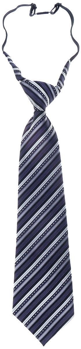 Галстук для мальчика. № 2№ 2Длинный галстук для мальчика Tsarevich, выполненный из 100% полиэстера, идеально подойдет вашему юному моднику. Галстук дополнен резинкой с пластиковой защелкой. Длина резинки регулируется. Оформлено изделие принтом в полоску. Такой стильный аксессуар является оптимальным завершением образа.