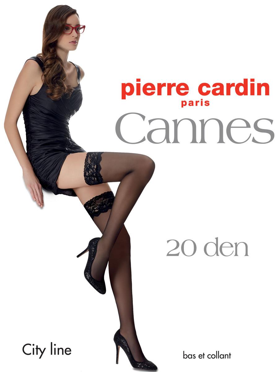 Cr CannesОчаровательные чулки Pierre Cardin Cannes идеально подчеркнут контур ваших ножек. Кружевная резинка шириной 9 см, украшающая верх чулка, имеет двойную силиконовую поддержку, что обеспечивает надежное удерживание на ноге без использования пояса. Чулки эластичные, шелковистые, с отформованной пяткой, они легко тянутся, что делает их удобными в носке.
