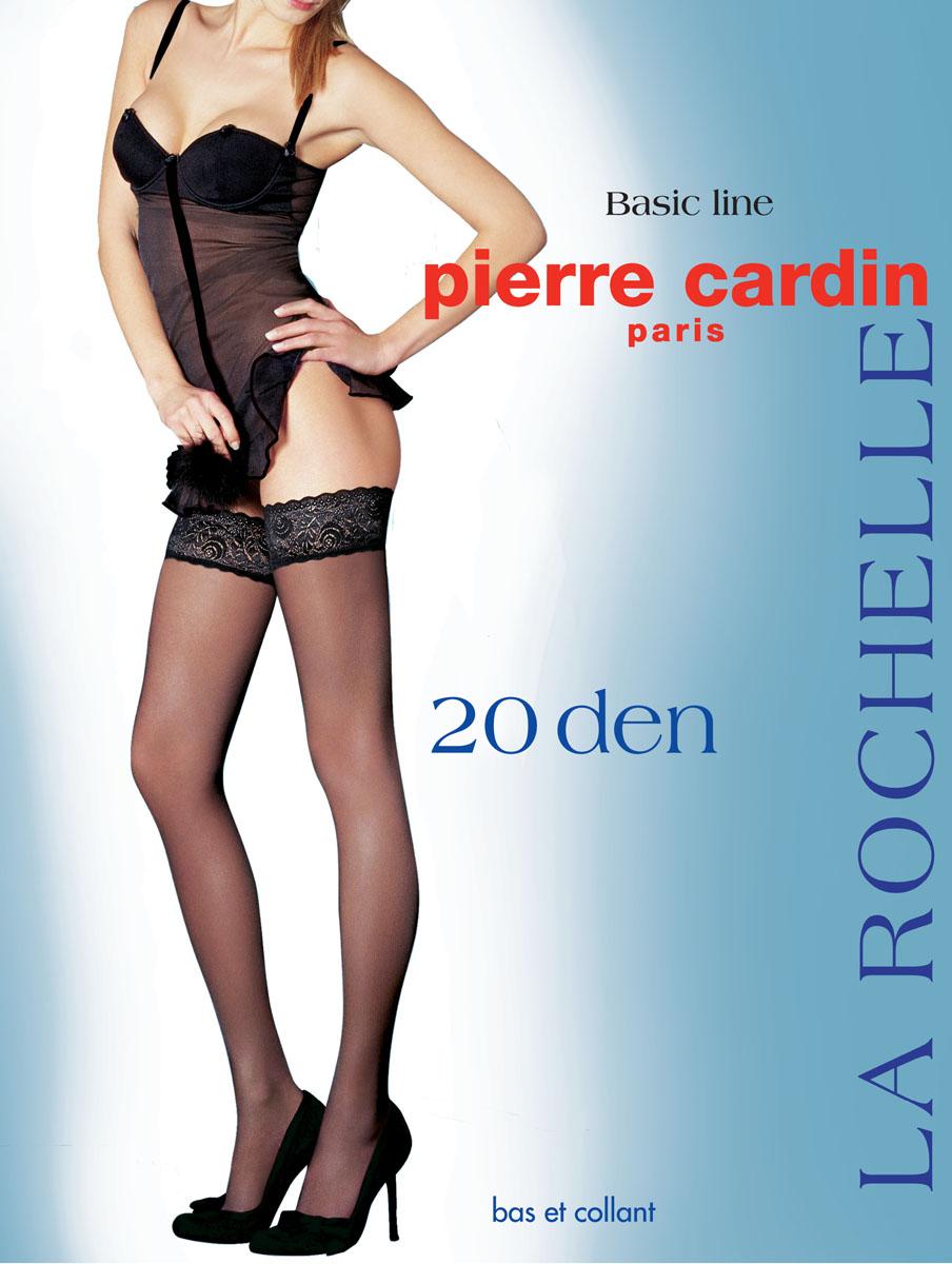ЧулкиCr La RochelleОчаровательные чулки Pierre Cardin La Rochelle идеально подчеркнут контур ваших ножек. Кружевная резинка шириной 7 см, украшающая верх чулка, имеет двойную силиконовую поддержку, что обеспечивает надежное удерживание на ноге без использования пояса. Чулки эластичные, они легко тянутся, что делает их удобными в носке.