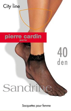 Cr SandrineЖенские носки Pierre Cardin изготовлены из полиамида с добавлением эластана, что обеспечивает великолепную посадку. Носочки в виде плетеной сетки шелковистые и эластичные. Кружевная резинка плотно облегает ногу, не сдавливая ее, обеспечивая комфорт и удобство.