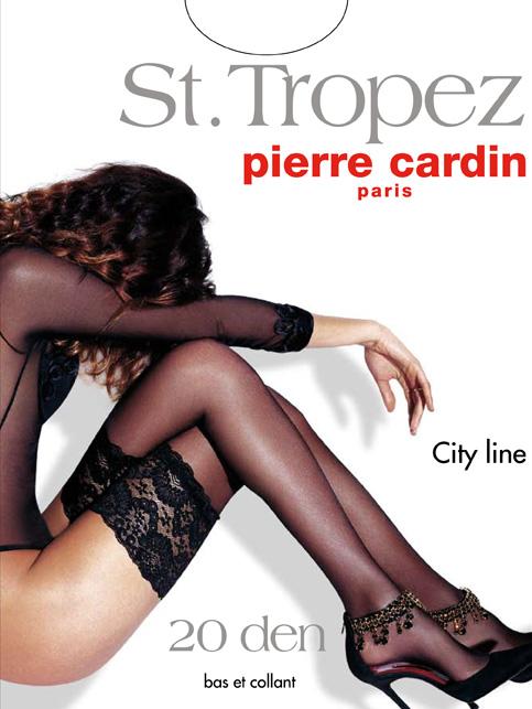 Чулки St. TropezCr St. TropezОчаровательные чулки Pierre Cardin St. Tropez идеально подчеркнут контур ваших ножек. Кружевная резинка шириной 14 см, украшающая верх чулка, имеет двойную силиконовую поддержку, что обеспечивает надежное удерживание на ноге без использования пояса. Чулки эластичные, шелковистые, с отформованной пяткой, они легко тянутся, что делает их удобными в носке.